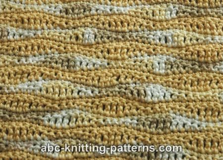 Abc Knitting Patterns Sunny Waves Baby Blanket