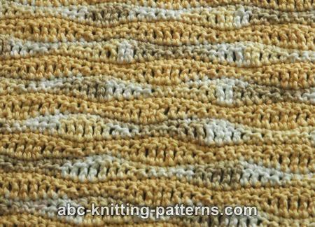 Sunny Baby Blanket Knitting Pattern : ABC Knitting Patterns - Sunny Waves Baby Blanket