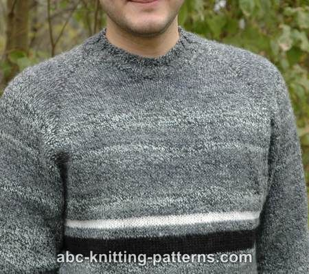 cc640273a ABC Knitting Patterns - Men s Top Down Raglan Sweater