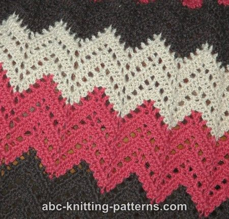 Knitting Pattern For Ripple Afghan : ABC Knitting Patterns - Lace Ripple Afghan