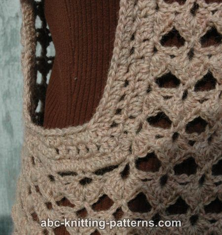 Scallop Knitting Pattern : ABC Knitting Patterns - Scallop Shell Vest