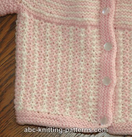 Free Seamless Top Down Knitting Patterns : ABC Knitting Patterns - Round Yoke Top Down Seamless Baby Cardigan