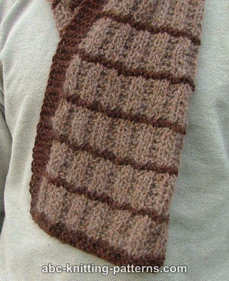 ABC Knitting Patterns - Irish Shepherd Scarf