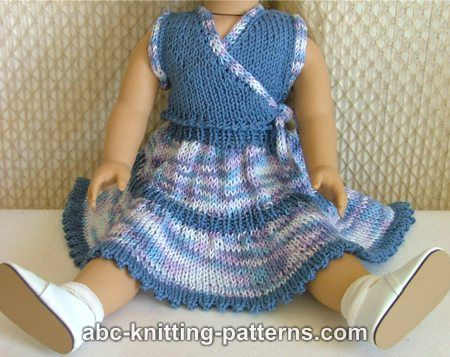 ABC Knitting Patterns - American Girl Doll Flared Two-Tier ...