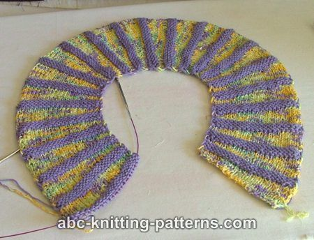 How To Join Knitting Stitches In The Round : ABC Knitting Patterns - Round Yoke Summer Sweater