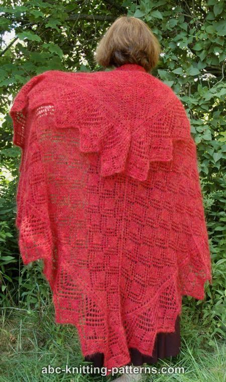 Abc Knitting Patterns : ABC Knitting Patterns - Victorian Enchantment Shawl