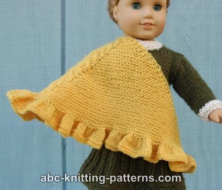 Abc Knitting Patterns : ABC Knitting Patterns - American Girl Doll Ruffle Shawl