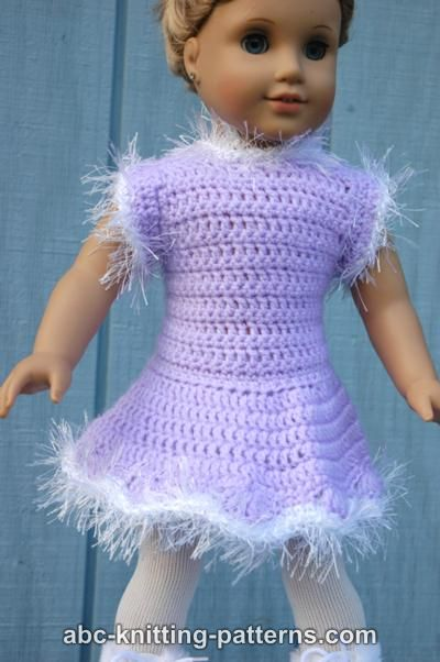 Abc Knitting Patterns For American Doll : ABC Knitting Patterns - American Girl Doll Skating Dress
