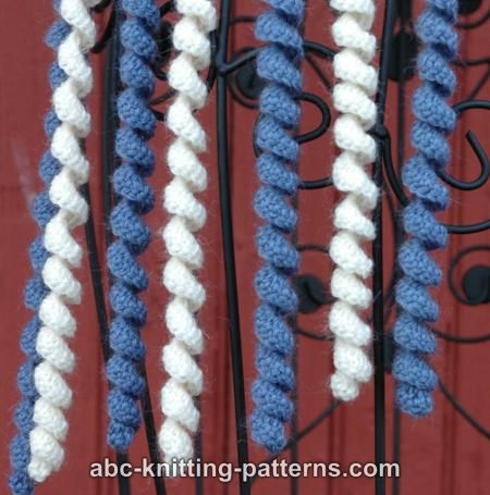 Free Knitting Pattern For Spiral Scarves : CORKSCREW KNITTING SCARF PATTERN Free Knitting and Crochet Patterns