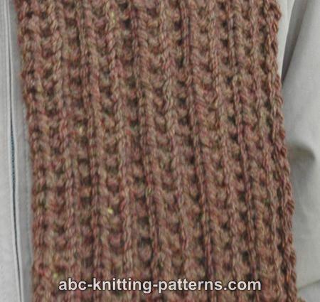 ABC Knitting Patterns - Twin Rib Scarf