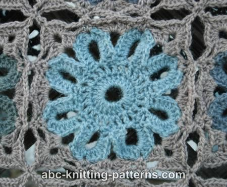 ABC Knitting Patterns - Flower Arbor Cushion