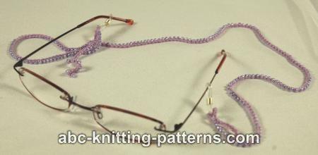 Abc Knitting Patterns Beaded Eyeglass Cord