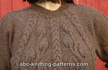 Abc Knitting Patterns : ABC Knitting Patterns - Cables and Leaves Tunic