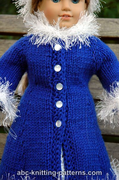 Abc Knitting Patterns American Girl Doll Retro Winter Outfit Coat