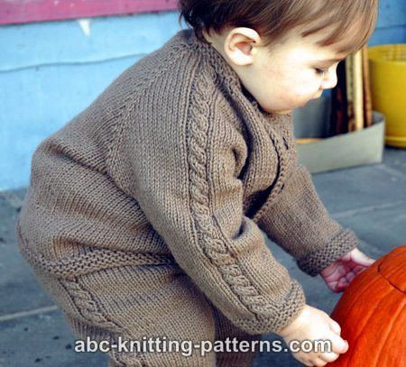 Abc Knitting Patterns Easy Cable Seamless Childs Cardigan