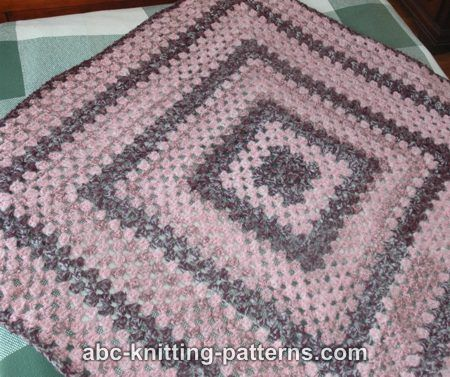 Knitted Granny Square Patterns : ABC Knitting Patterns - Granny Square Lapghan