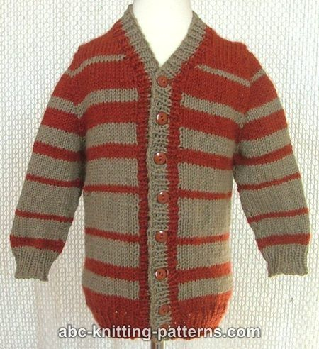 Top Down Knitting Patterns For Children Free : ABC Knitting Patterns - Childs Top-Down Seamless Cardigan with Set-In Sl...