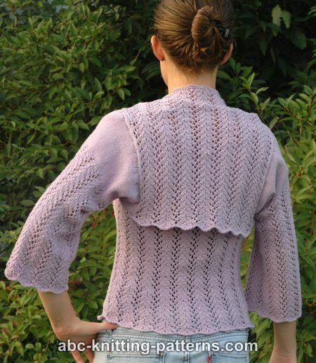 a99e0baa273 ABC Knitting Patterns - Vine Lace Summer Shrug