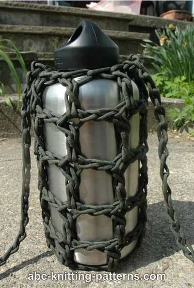 Abc Knitting Patterns Paracord Water Bottle Carrier