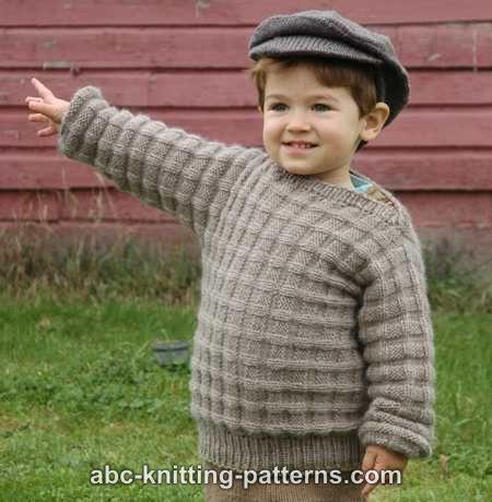 a240bbdfcfae ABC Knitting Patterns - Little Boy s Cuff-to-Cuff Sweater