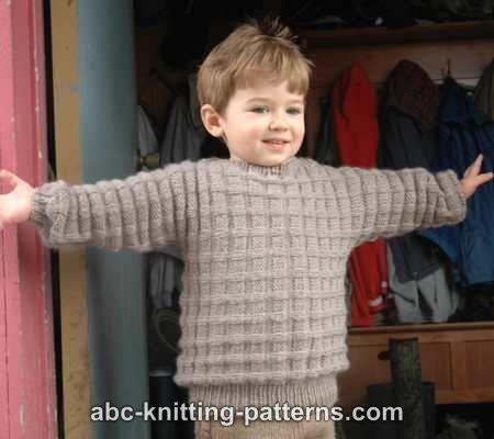 5c2f611fd9dd0 ABC Knitting Patterns - Little Boy s Cuff-to-Cuff Sweater