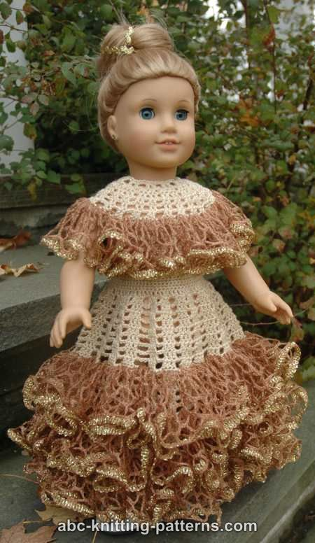 Abc Knitting Patterns American Girl Doll Southern Belle