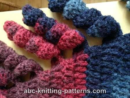 2a357cefc ABC Knitting Patterns - Small Sideways Shawl with Corkscrew Fringe