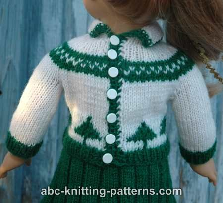 Abc Knitting Patterns For American Doll : ABC Knitting Patterns - American Girl Doll Colorwork Sweater