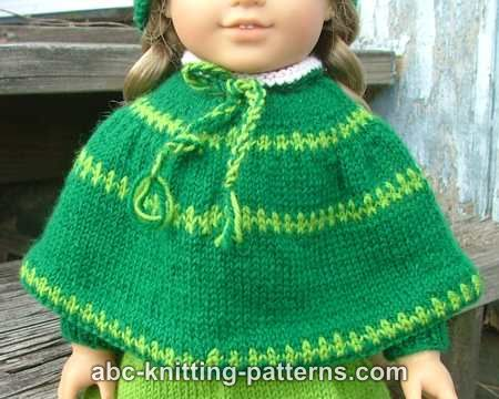 ABC Knitting Patterns - American Girl Doll Christmas Carol Outfit (Skirt, Cap...