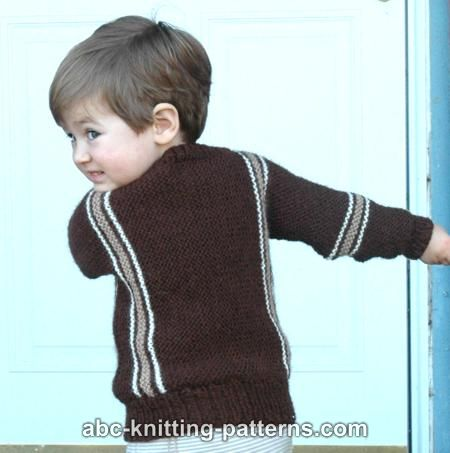 0287e2e46 ABC Knitting Patterns - Easy Child s Garter Stitch Cuff-to-Cuff Sweater
