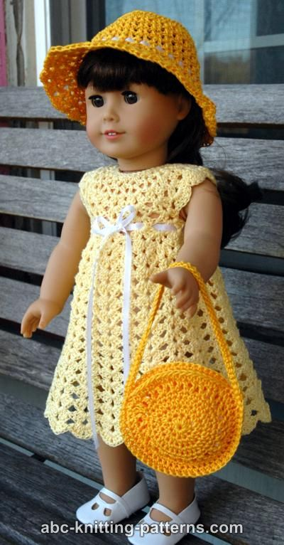 Abc Knitting Patterns American Girl Doll Seashell Summer