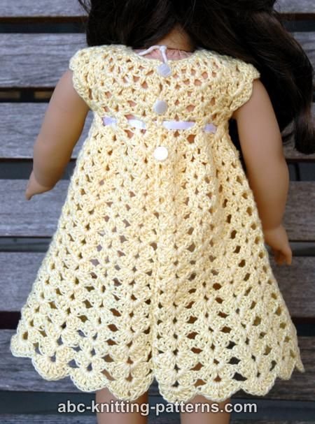 Abc Knitting Patterns American Girl Doll Seashell Summer Dress