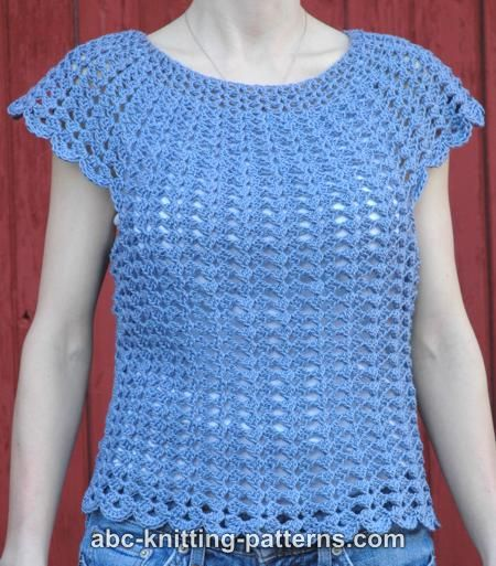 Abc Knitting Patterns Scalloped Summer Top