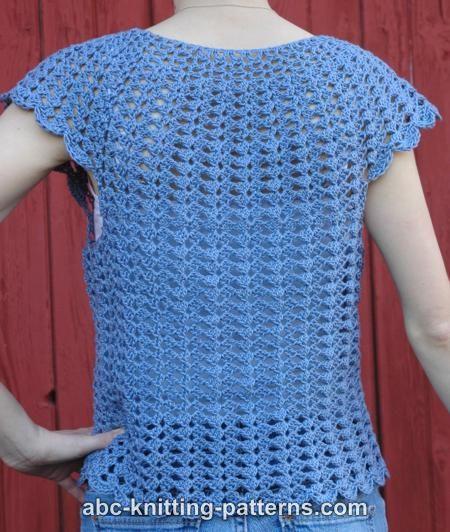 Abc Knitting Patterns Scalloped Summer Top