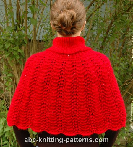 Knitting Pattern For Baby Capelet : ABC Knitting Patterns - Little Red Riding Capelet