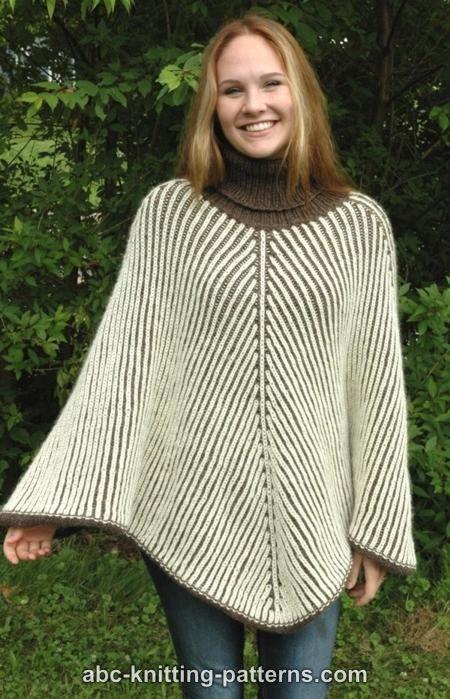 Abc Knitting Patterns Reversible Brioche Poncho