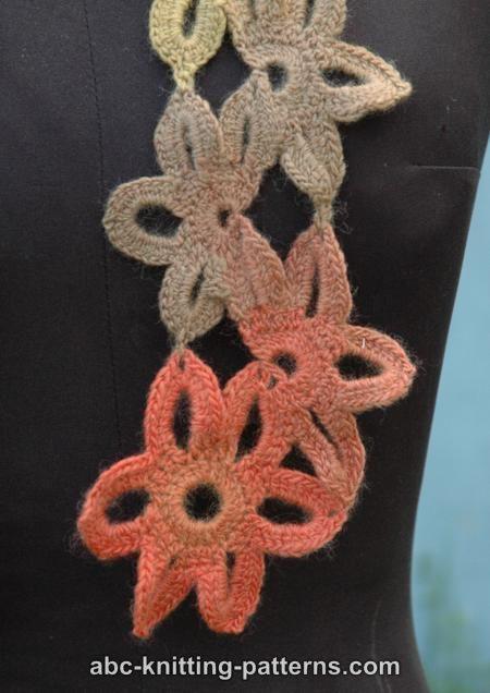 Abc Knitting Patterns : ABC Knitting Patterns - Starflower Scarf