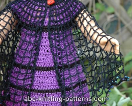 Abc Knitting Patterns American Girl Doll Witchs Cloak