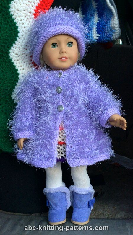 ABC Knitting Patterns - American Girl Doll Fur Coat