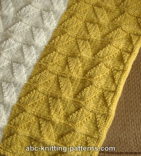 Abc Knitting Patterns Double Pennant Baby Blanket