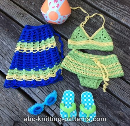Abc Knitting Patterns American Girl Doll Two Piece Swim Suit