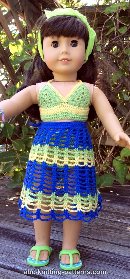 Abc Knitting Patterns American Girl Doll Beach Cover Up