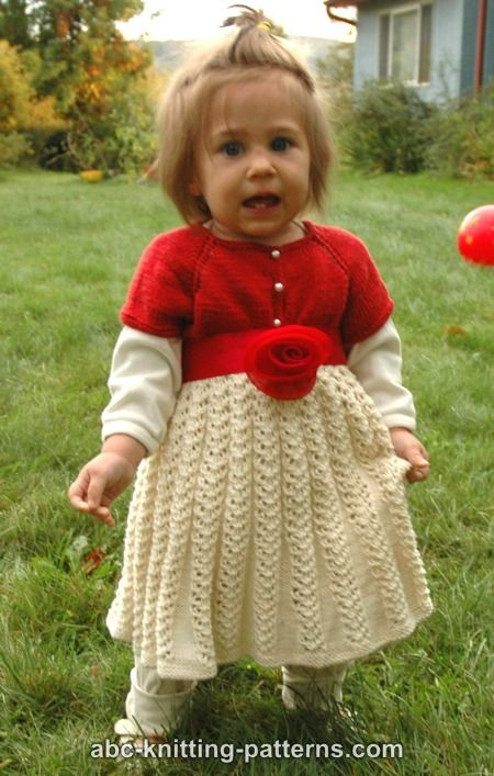 Christmas Child Knitting Patterns : ABC Knitting Patterns - Toddler Christmas Dress