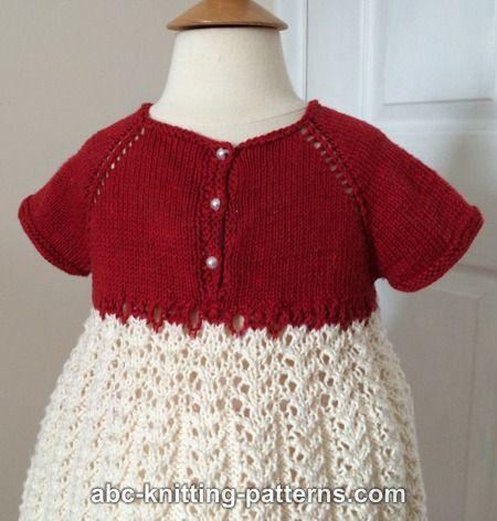 Abc Knitting Patterns : ABC Knitting Patterns - Toddler Christmas Dress