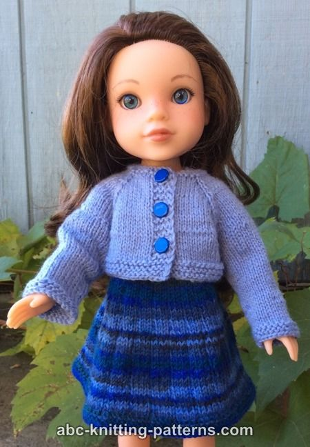 Abc Knitting Patterns Wellie Wishers Doll Dress And
