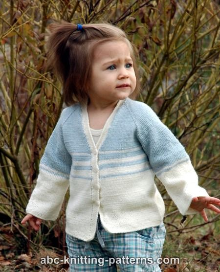 902ac05c872c ABC Knitting Patterns - Easy Stripes Seamless Child Cardigan