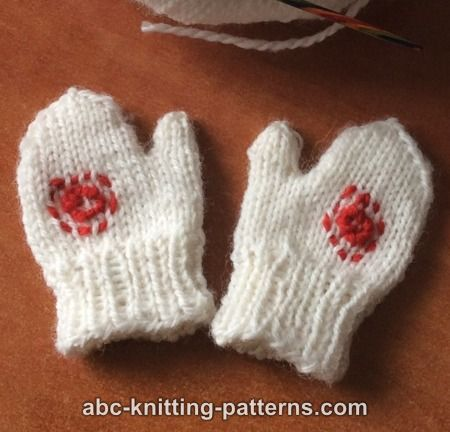 Knitting Pattern For American Girl Doll Mittens : ABC Knitting Patterns - American Girl Doll Winter Fun Mittens and Scarves