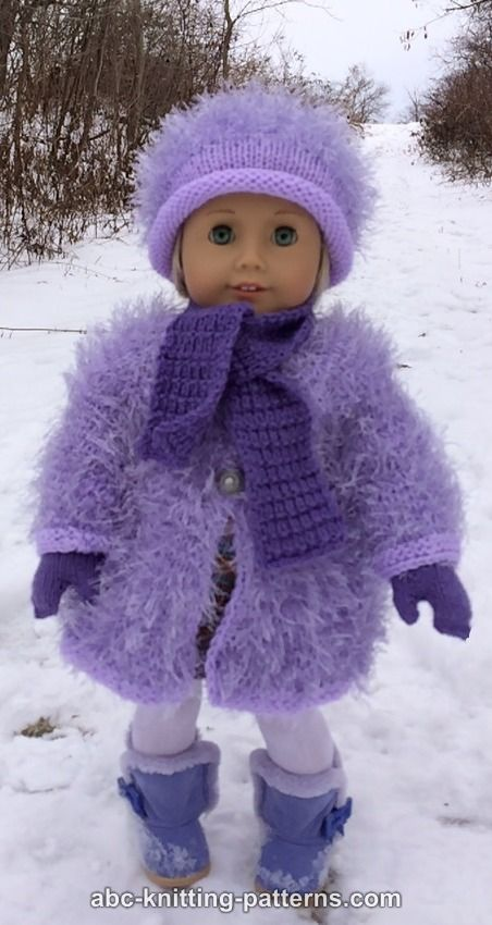 ABC Knitting Patterns - American Girl Doll Winter Fun ...