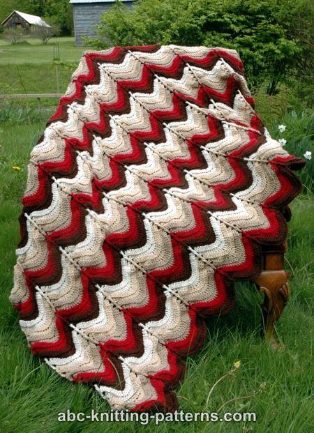 ABC Knitting Patterns - Carnival Bunting Ripple Afghan