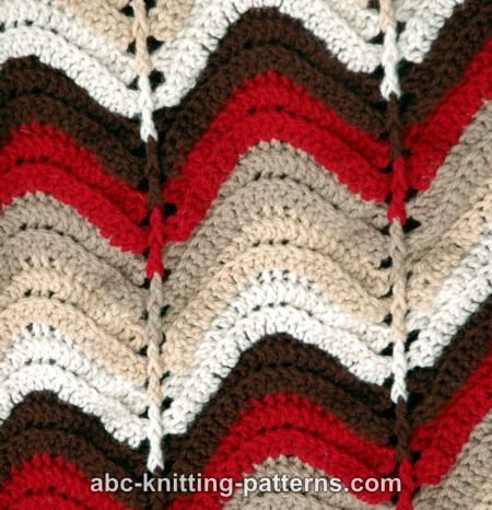 Abc Knitting Patterns Lace Ripple Afghan : ABC Knitting Patterns - Carnival Bunting Ripple Afghan